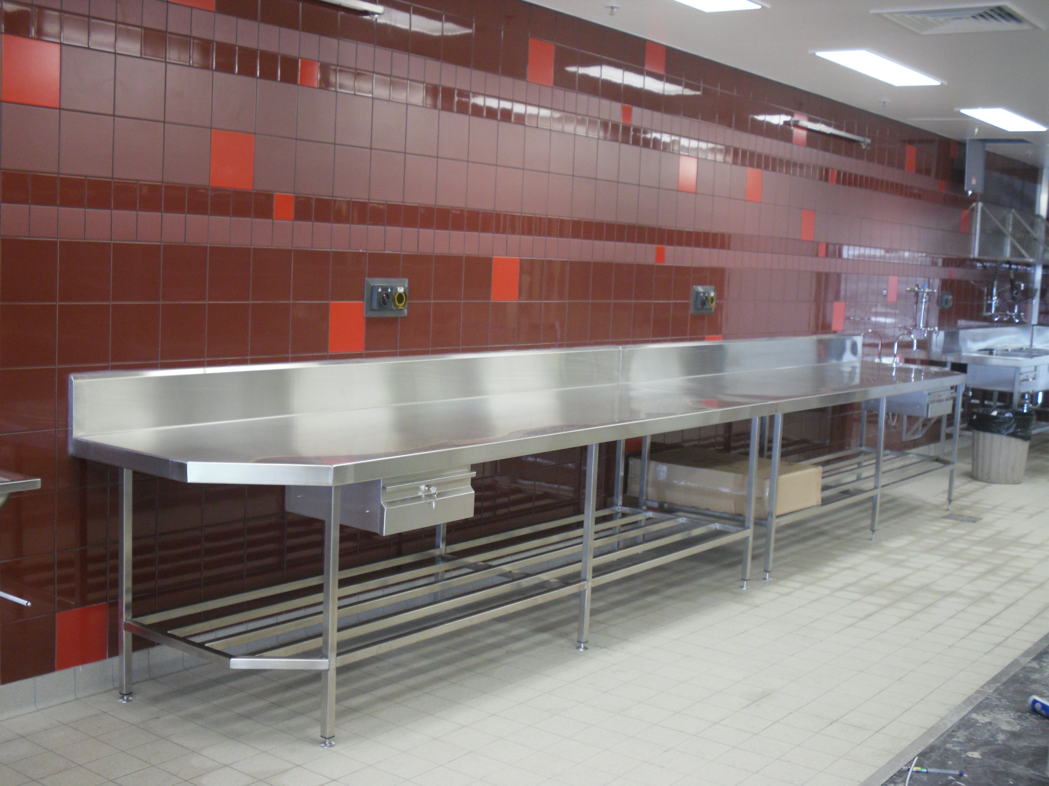 Stainless Steel Benches Amp Bench Tops Custom Benches Controlfab